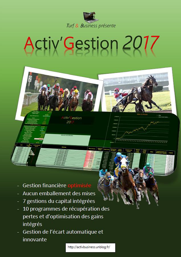Activgestion 2017, la gestion financière professionnelle pour gagner aux courses hippiques